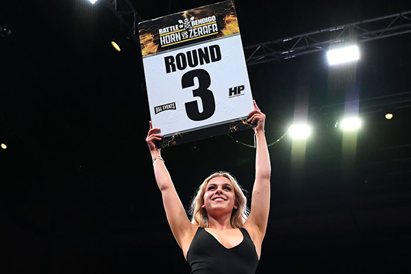 Article image for 'Give me a break!': PC brigade gets 'ring girls' replaced by men