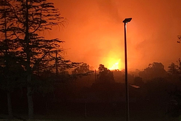 QLD Opposition leader at the scene of 'devastating' fires