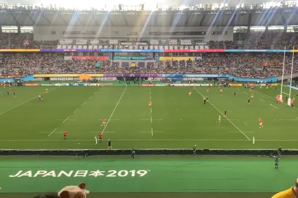 Australian radio host spat on at the Japan Rugby World Cup