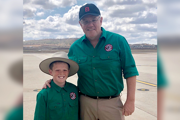Scott Morrison makes good on promise to 11yo Jack Berne