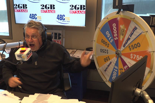 Article image for WATCH | Proof Ray Hadley didn't cheat as Spin to Win grand prize goes off