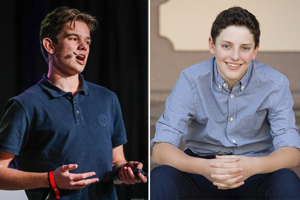 Alan Jones meets two teenage millionaires who 'put us all to shame'