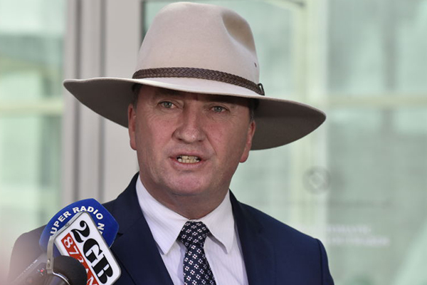 Barnaby Joyce says dairy farmers could miss out on federal support
