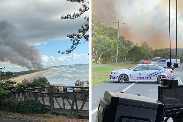 Residents urged to flee as bushfire threatens Sunshine Coast