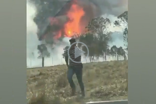 Article image for NRL star Latrell Mitchell helps farmers fighting the bushfires