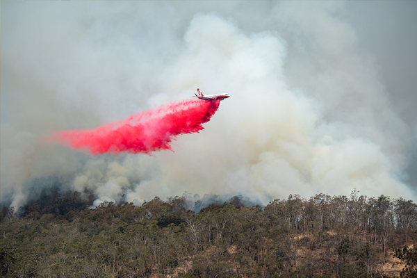 Queensland firefighters bracing for dangerous conditions from the south