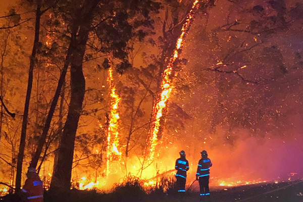Article image for Bushfire crisis far from over as fires 'merge together'