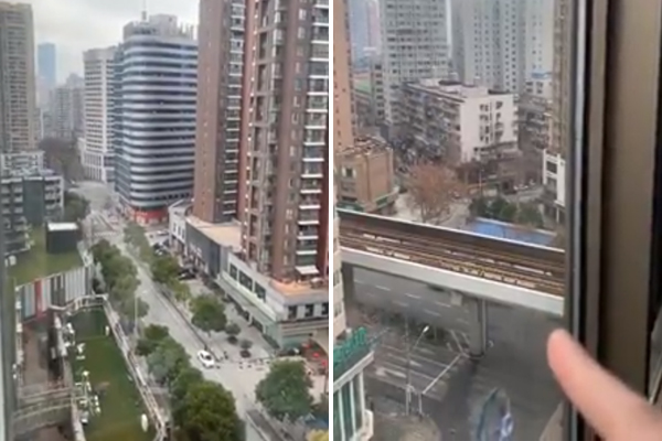 WATCH | Aussie trapped in Wuhan shares shocking footage from the deserted city