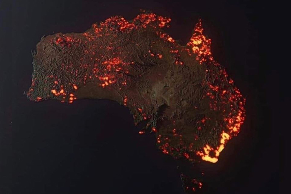 Fake and misleading bushfire images circulate on social media