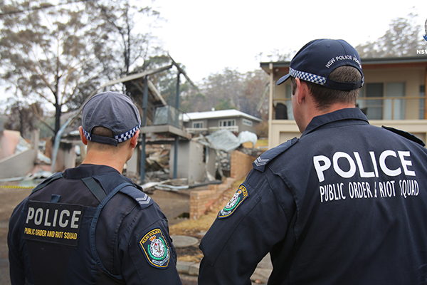 Article image for 'Disgusting behaviour': Three charged as police crack down on looting in bushfire-affected areas