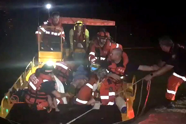 Several injured after terrifying QLD boat crash