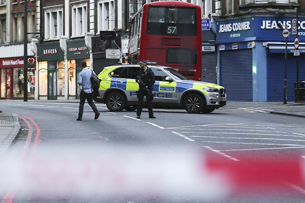 Article image for Man shot dead following London terror attack