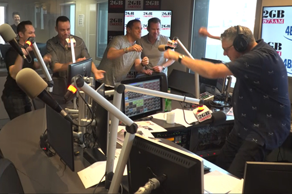WATCH   Ray Hadley pranked by Human Nature