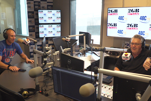 Nova host Fitzy bursts into Ray Hadley's studio demanding an apology