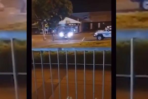 WATCH   Children filmed allegedly taunting police