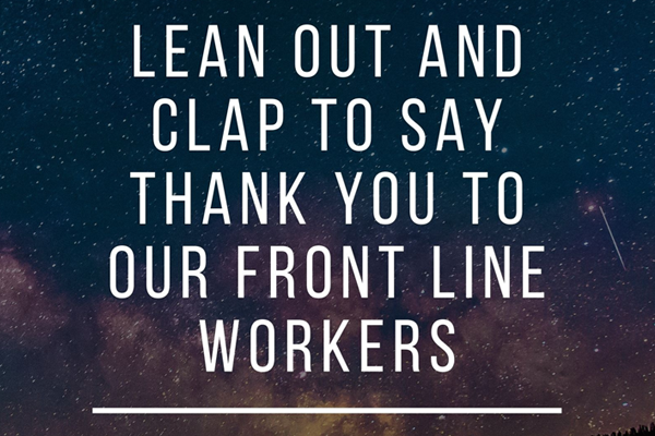 Article image for A round of applause tonight for our frontline workers