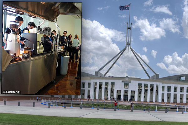 Article image for The Parliament House coffee cart just got a VERY expensive upgrade