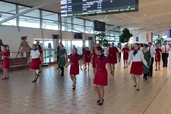 Virgin Australia staff say their final farewell – through dance