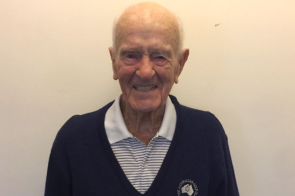 Article image for Aussie tennis player shares secret to long life on his 100th birthday