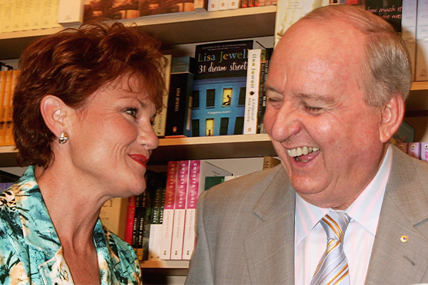 'I'm devastated': Pauline Hanson's emotional farewell to Alan Jones