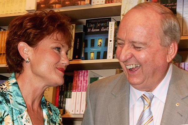 Article image for 'I'm devastated': Pauline Hanson's emotional farewell to Alan Jones
