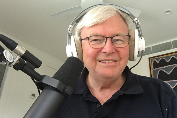 Kevin Rudd withdraws from the race to be Alan Jones' replacement
