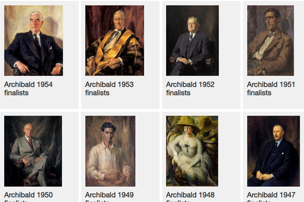 The search is on for hundreds of missing portraits