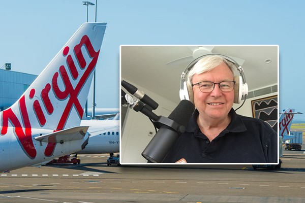 Government should've bailed out Virgin says ex-Prime Minister Kevin Rudd