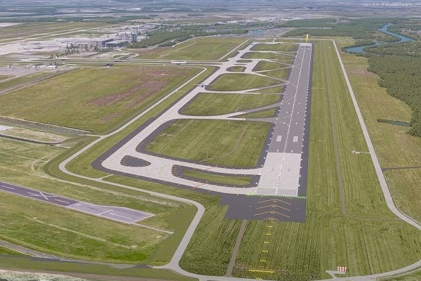 Sunday the second runway opens