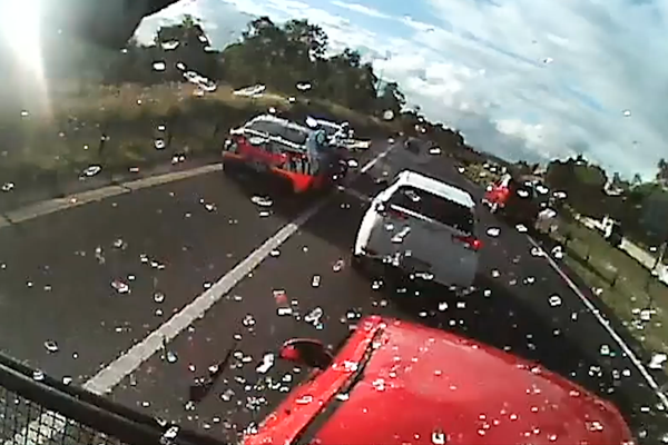 WATCH | Terrifying M7 multi-vehicle crash caught on dashcam
