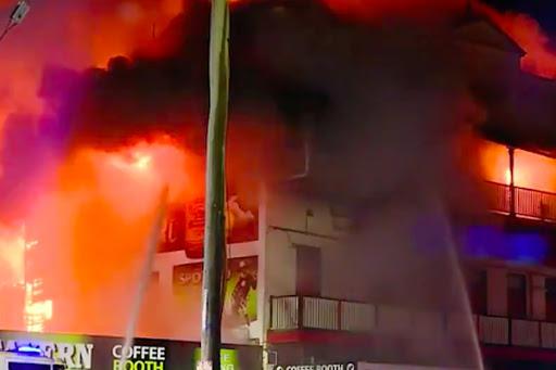 Article image for Ferocious blaze destroys backpackers hostel in Bundaberg