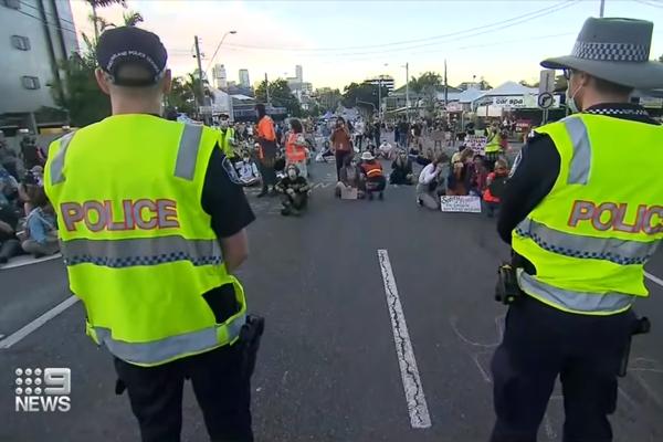 Story Bridge refugee protest deemed illegal