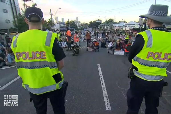 Story Bridge refugee protest deemed illegal