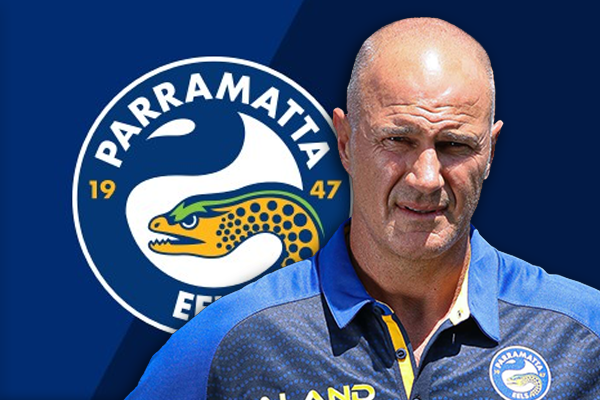 Article image for Eels players celebrate re-signing of 'outstanding' coach Brad Arthur