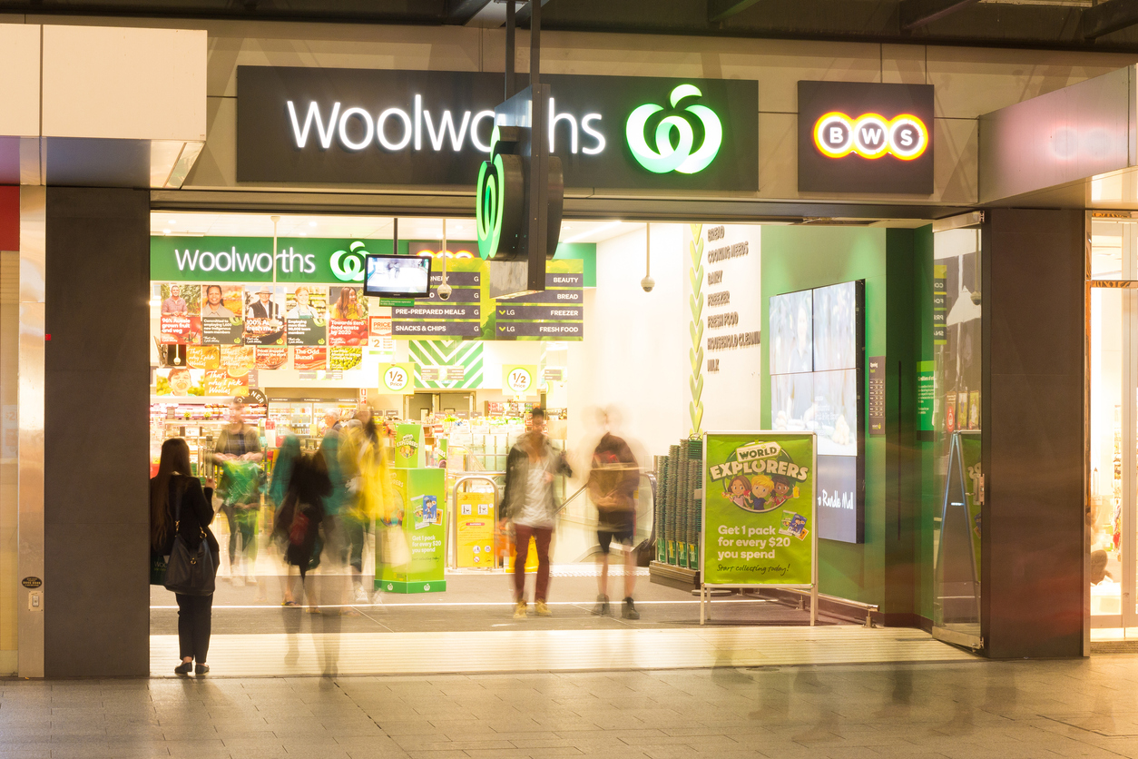 The futuristic new team member in a Queensland Woolies store