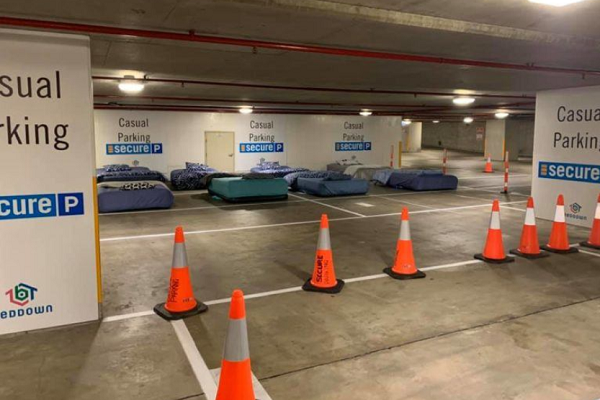 Turning car parks into pop up hotels for the homeless.