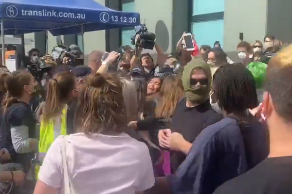 Brisbane BLM protesters clash with police over death in custody