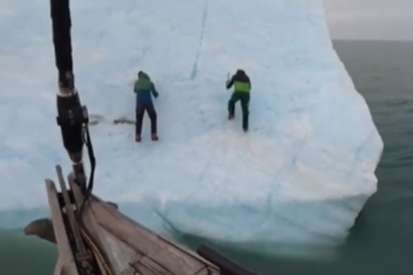 WATCH | Arctic explorers thrown into freezing sea lucky to survive