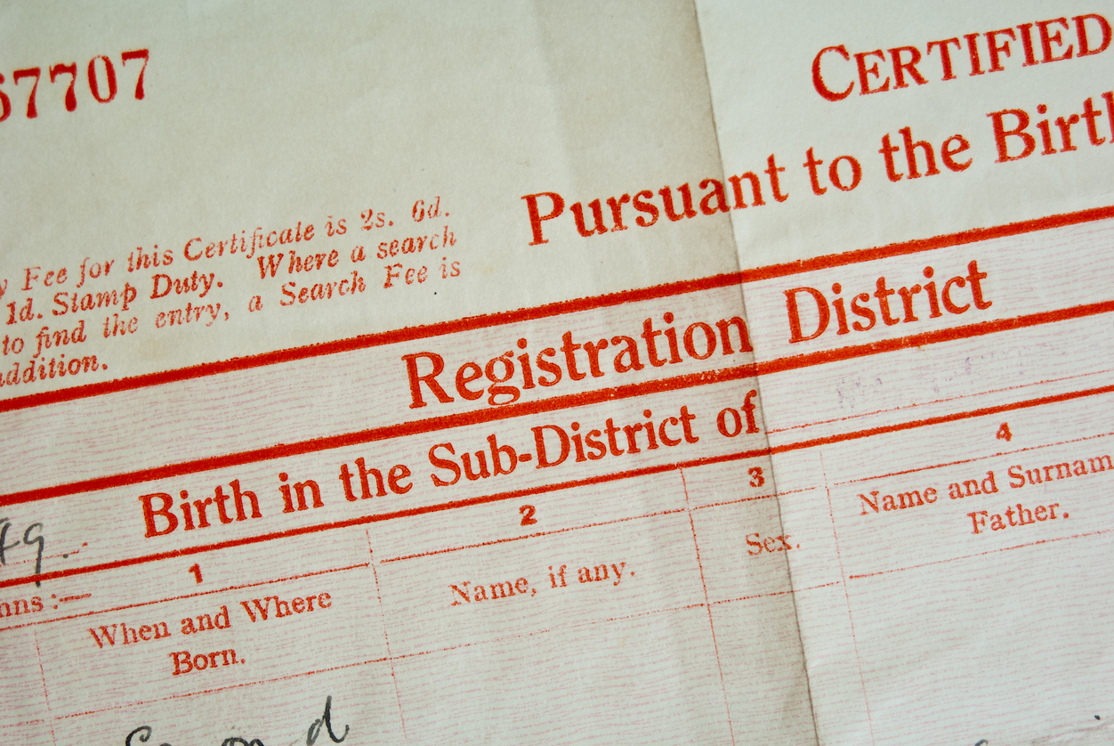 How a typo sparked a six-decade struggle with Births, Deaths and Marriages