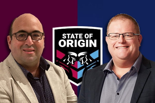 'Disgusting!': Mark Levy and Peter Psaltis go head-to-head with Origin wager