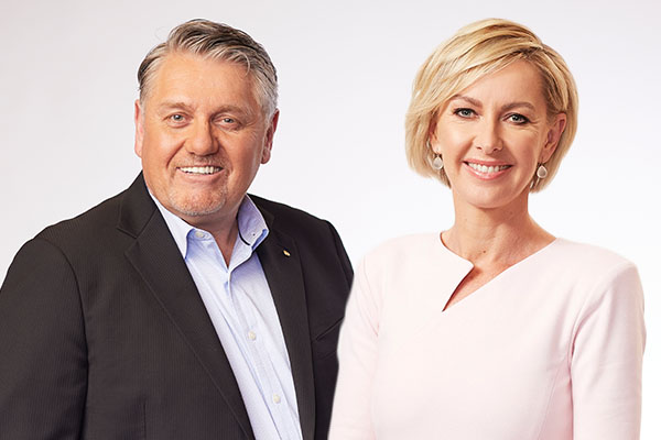 Article image for Ray Hadley and Deborah Knight break out in song