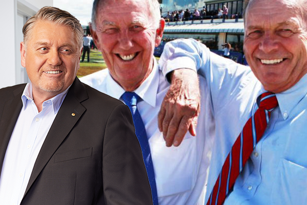 Ray Hadley and John Singleton team up against Gerry Harvey