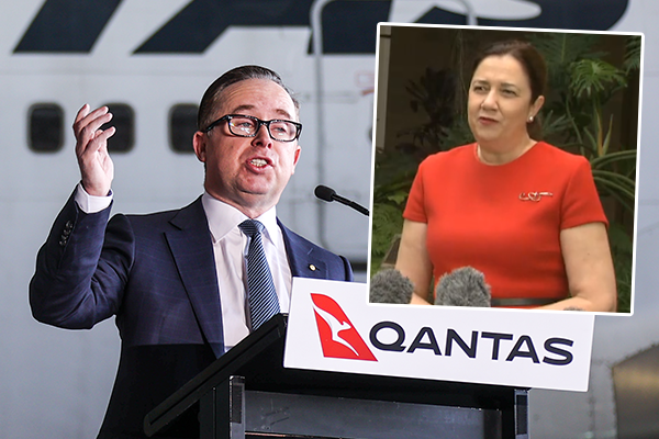 'If only they could travel': Qantas CEO hits out at QLD Premier over missed opportunity
