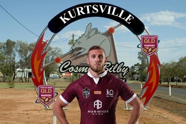 Article image for Regional Queensland town renames itself in honour of Maroons star