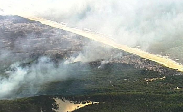 Article image for Calls for full inquiry into Fraser fire after water bombing plane sits idle