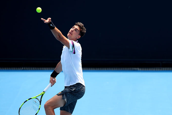 Article image for 'Feeling pretty good': Thanasi Kokkinakis returns to form for Australian Open