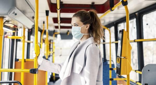 Article image for Australians support wearing a mask on public transport, study finds