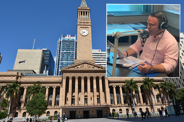 Article image for Lord Mayor quizzed on potential double rates hike for Brisbane
