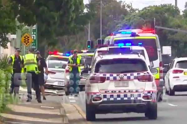Article image for Teen clipped by truck after allegedly fleeing crashed stolen car