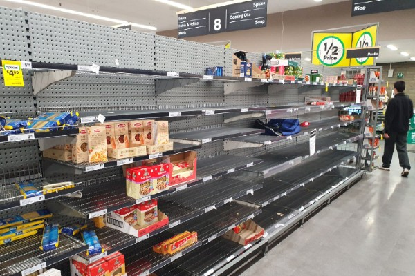 How does supply handle panic buying